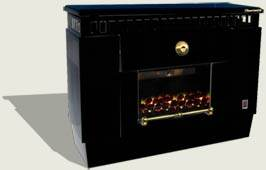 FÉG ZEUSZ EURO GF 35 parapetes (faláttöréses) fekete látványkonvektor / 3,5 kW konvektor